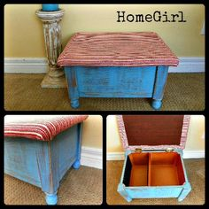 Recycled CD storage stool by HomeGirl
