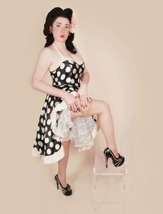 satin pinup polka dot rockabilly dress by RavenBombshell on Etsy, $119.00 photo by Autumn Luciano