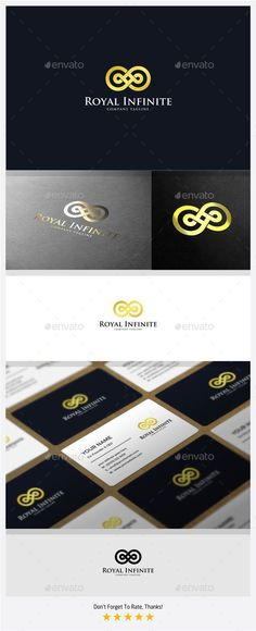 Royal Infinite  Logo Design Template Vector #logotype Download it here: http://graphicriver.net/item/royal-infinite-logo/11113135?s_rank=1025?ref=nexion