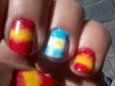 Banderas de España y Argentina