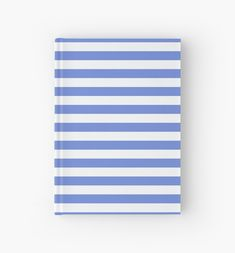 'Light blue marine stripes pattern' Hardcover Journal by cool-shirts