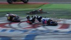 BBC Sport - MotoGP: Alvaro Bautista punished for Jorge Lorenzo crash
