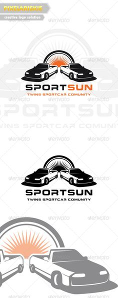 Twin Car Automotive Logo — Vector EPS #sun car #mechine • Available here → https://graphicriver.net/item/twin-car-automotive-logo/6481636?ref=pxcr