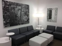Classy Black & White Install featuring Flock Collaborative Series Furniture by Tylander's Office Solutions #design #interiordesign #furniture #blackandwhite