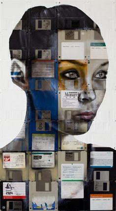 Área Visual - Blog de Arte y Diseño: Nick Gentry. Retratos tecnológicos