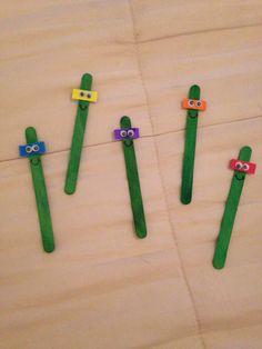 Popsicle stick  , atividade montessoriana, ninja turtle,