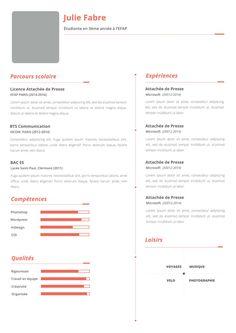 CV étudiant + LM - IL ÉTAIT UN JOB Photoshop, Job, Lorem Ipsum, Student Resume
