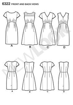 NL6322 Misses' Dress with Bodice & Skirt Variations