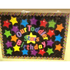 Made this birthday board for my preschool class Classroom Crafts