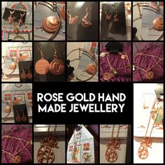 CHARITY Rose Gold coloured Jewellery - earrings, necklaces, bangles by MagpieLaneCrafts on Etsy