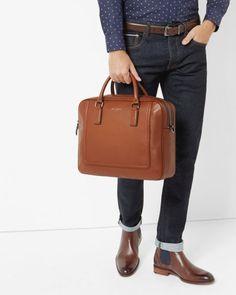 Leather bowler bag - Tan | Bags | Ted Baker UK