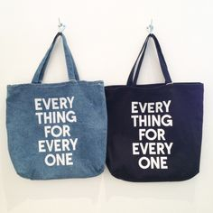 Everything for Everyone Denim Tote Bags