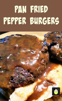 Home Made Pan Fried Pepper Burgers. A really great taste with a wonderful marinade. #homemade #burger #beef #grill #bbq #panfry