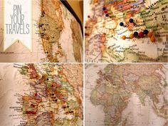 Cartoules Press: DIY Travel Pin Board -- great piece of interactive art. Think I'd hang own the dining room, too.