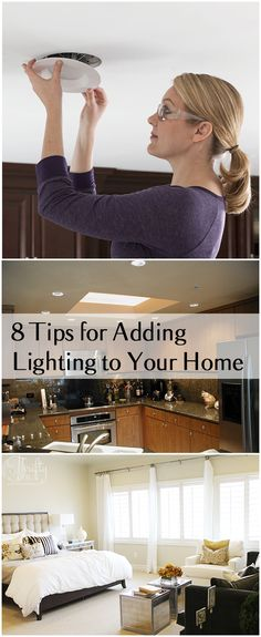 8 Tips and ideas for adding lighting to your home. Great projects, and tutorials for DIY lighting.