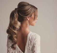 penteado para noiva com cabelo preso rabo de cavalo