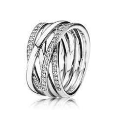 PANDORA | Silver ring with cubic zirconia