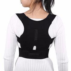 Adjustable Back Brace Posture Corrector Back Spine Support Brace Belt Shoulder Lumbar Correction Bandage Corset For Men Women Shoulder Brace, Back Brace Posture Corrector, Nice Body, Braces, Corset, Model, How To Wear, Clothes, Back Pain