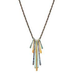 Mixed Metals Bar Necklace 1