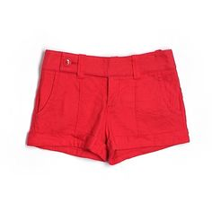 Pre-owned Bebe Shorts ($17) ❤ liked on Polyvore featuring shorts, red, red shorts, bebe and bebe shorts