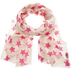 Lulu and Nat Cashmere Star Scarf Pink found on Polyvore