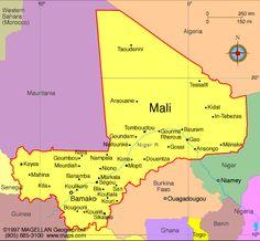 Mali President: Ibrahim Boubacar Keita (2013)  Prime Minister: Moussa Mara (2014)  Land area: 471,042 sq mi (1,219,999 sq km); total area: 478,767 sq mi (1,240,000 sq km)  Population (2014 est.): 16,455,903 growth rate: 3%; birth rate: 45.53/1000; infant mortality rate: 104.34/1000; life expectancy: 54.95  Capital and largest city (2011 est.): Bamako, 2.037 million  Monetary unit: CFA Franc X=X marks the spot