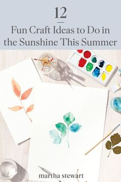 However you choose to spend your summer, try one of our fun summer craft ideas and head outside into the fresh air. You may be surprised by the surge of creativity that results in your own project. #marthastewart #crafts #diyideas #easycrafts #tutorials #hobby