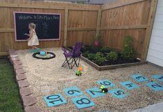 DIY Backyard Play Area | Budget Backyard Play Area for Kids #backyards #outdoorplay