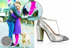Carrie Bradshaw (AnnaSophia Robb) wears these metallic silver perforated leather T-bar pumps in this week's episode of The Carrie Diaries.