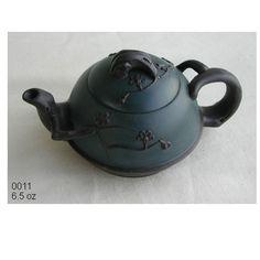 Yixing Teapot Blue and Black Plum Tree Flower 6.5 oz $26.99