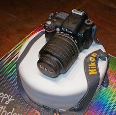 Nikon Camera Cake - Chocolate Mud Cake with Rice Krispy treat camera