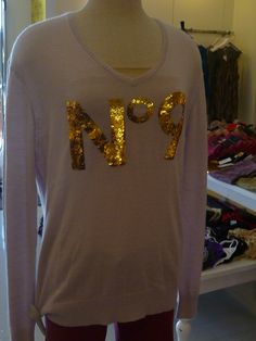 Wildfox gold sequined sweater for the sophisticated Doll at the DOLL BOUTIQUE IN COSTA MESA
