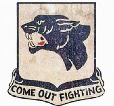 "The #761 Tank Battalion was the last of the three United States Army segregated combat tank battalion during World War II. The unit consisted of #Black soldiers, who were not allowed to serve alongside white troops. These soldiers were known as the Black Panthers, and the unit's motto was ""Come out"