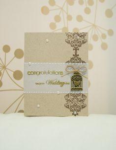 Handmade Wedding Card Elegant Wedding Card by DiyCraftyScraps, €2.90