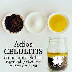 remedio para la celulitis Ingredientes: ★ 1 taza de posos de café de un día (lo que sobra cuando haces café) ★ Aceite de Oliva extra virgen ★ 1 Cucharada de Sal Marina ★Esponja o pashte