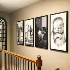 Displaying Family Pictures, Family Pictures On Wall, Family Wall Decor, Family Room, Smallwood Home, Picture Wall, Photo Wall, Hallway Pictures, Photowall Ideas