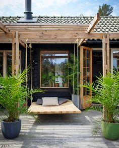 The Nordroom - A Swedish Summerhouse Filled With Vintage Design Outdoor Spaces, Indoor Outdoor, Outdoor Living, Outdoor Decor, Exterior House Colors, Interior And Exterior, Garden Design, House Design, Design Design