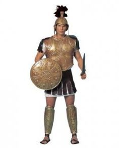 Homemade Roman Soldier Costume | Menu0027s Roman gladiator costumes Greek soldiers outfits.  sc 1 st  Pinterest & How to Make a Spartan 300 Hoplite Shield