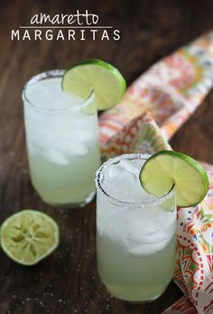 Amaretto Margaritas - A simple & dangerously delicious margarita!