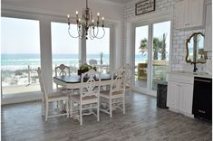 You'll enjoy dining with a view year-round in this gorgeous Gulf-front dining room.