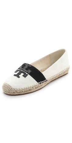 A contrast stripe adds a modern touch to the @toryburch 'Weston' espadrilles $125, get it here  http://rstyle.me/~jyhm