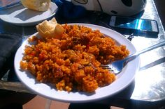 Chicken paella, almerimar on the bikes. www.vamoscycling.com