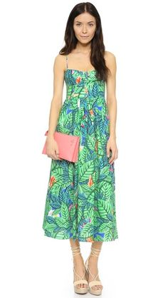 Mara Hoffman Leaf Bustier Dress