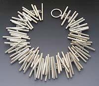"Artist: Elisa Bongfeldt: ""Tubing"" Necklace $1500"