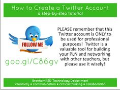 Educational Technology and Mobile Learning: A Great Visual Guide to Create Twitter Account for your Class