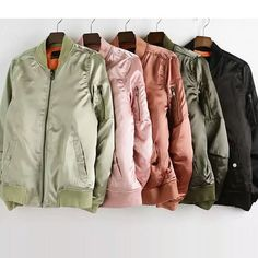Grab this cute bomber jacket that you can wear with practically anything. Fashion phenom, Kylie Jenner, has been seen rocking this style and now, so can you! **Free Shipping** Material: Cotton/ Satin