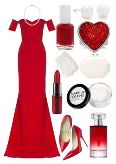 """""""Swans will go in and win overall"""" by sassy-smart-assy-nerd ❤ liked on Polyvore featuring Tiffany & Co., Safiyaa, Nadri, R.J. Graziano, Ann Taylor, Jimmy Choo, Liz Claiborne, MAC Cosmetics, Lancôme and Essie"""
