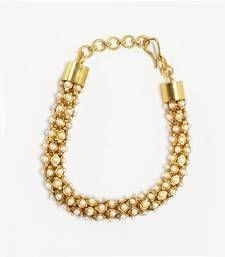 Buy Modern Style & Designer hand bracelet in white pearl with Adjustable Kadi for Modern Girls Jewellery Bracelet Online