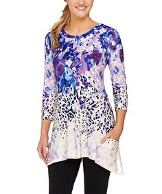 This Purple Jungle Sidetail Tunic - Plus Too by LOGO by Lori Goldstein is perfect! #zulilyfinds