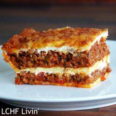 LCHF Livin': LCHF Lasagne med hjemmelavet bechamelsauce